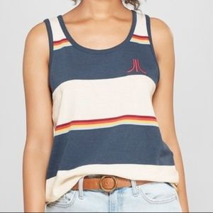 Junk Food Women's Striped Atari Ringer Graphic Tan